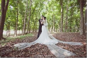 forest pattern wedding