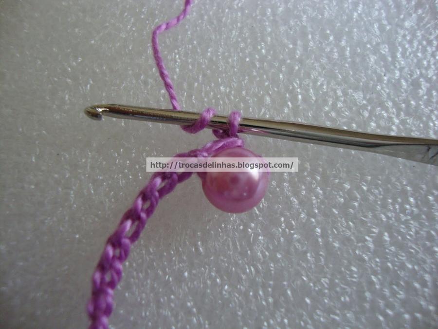 Вязаное крючком колье МК