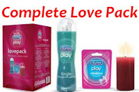 Buy Durex Honeymoon Love Pack Lube ,Vibrating Ring & Candle Rs. 580  only at askmabazaar