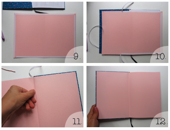 How To Make A Book Cover Look D In Photo : Crafted how to cover a book in fabric