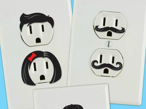 17 ideas para decorar tus enchufes e interruptores for Outlet de decoracion online