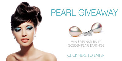 Win Metallic Golden Pearl Earrings