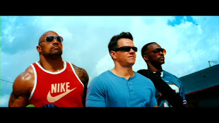 "Dwayne ""Rock"" Johnson, Mark Wahlberg and Anthony Mackie"