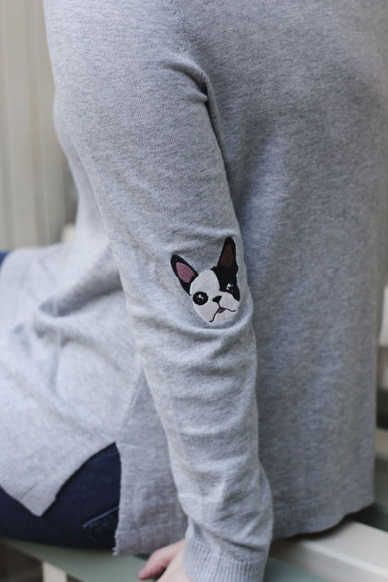 asos french bulldog jumper