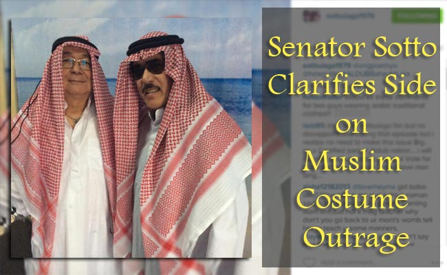 Senator Sotto Clarifies Side on Muslim Costume Outrage