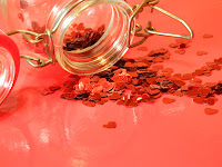 jar of hearts, red,