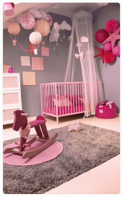 chambre fille rose pastel dekobook. Black Bedroom Furniture Sets. Home Design Ideas