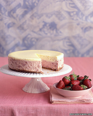 One Perfect Bite: Roasted Strawberries-and-Cream Cheesecake