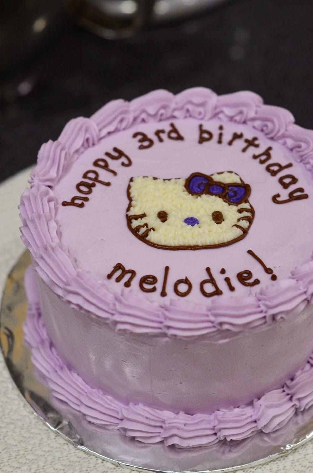 I Heart Baking Purple Hello Kitty Birthday Cake