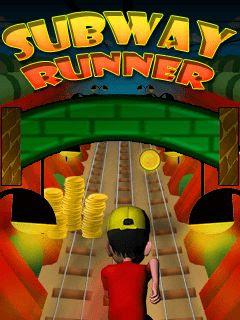 Screenshots of the Subway runner for java mobile, phone.