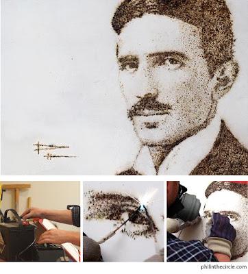 Disegnare con l'elettricità - Omaggio a Nicola Tesla