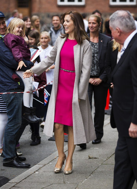 Crown Princess Mary chose a JOSEPH Double Cashmere Oslo Coat for Global Education opening ceremony
