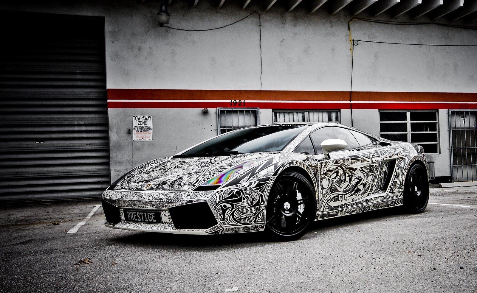 3d Art Painting Illustration Sharpie Lamborghini