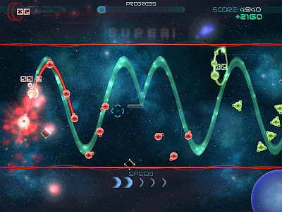 インディーズゲーム アクション・アーケードゲーム部門 ノミネート Waveform
