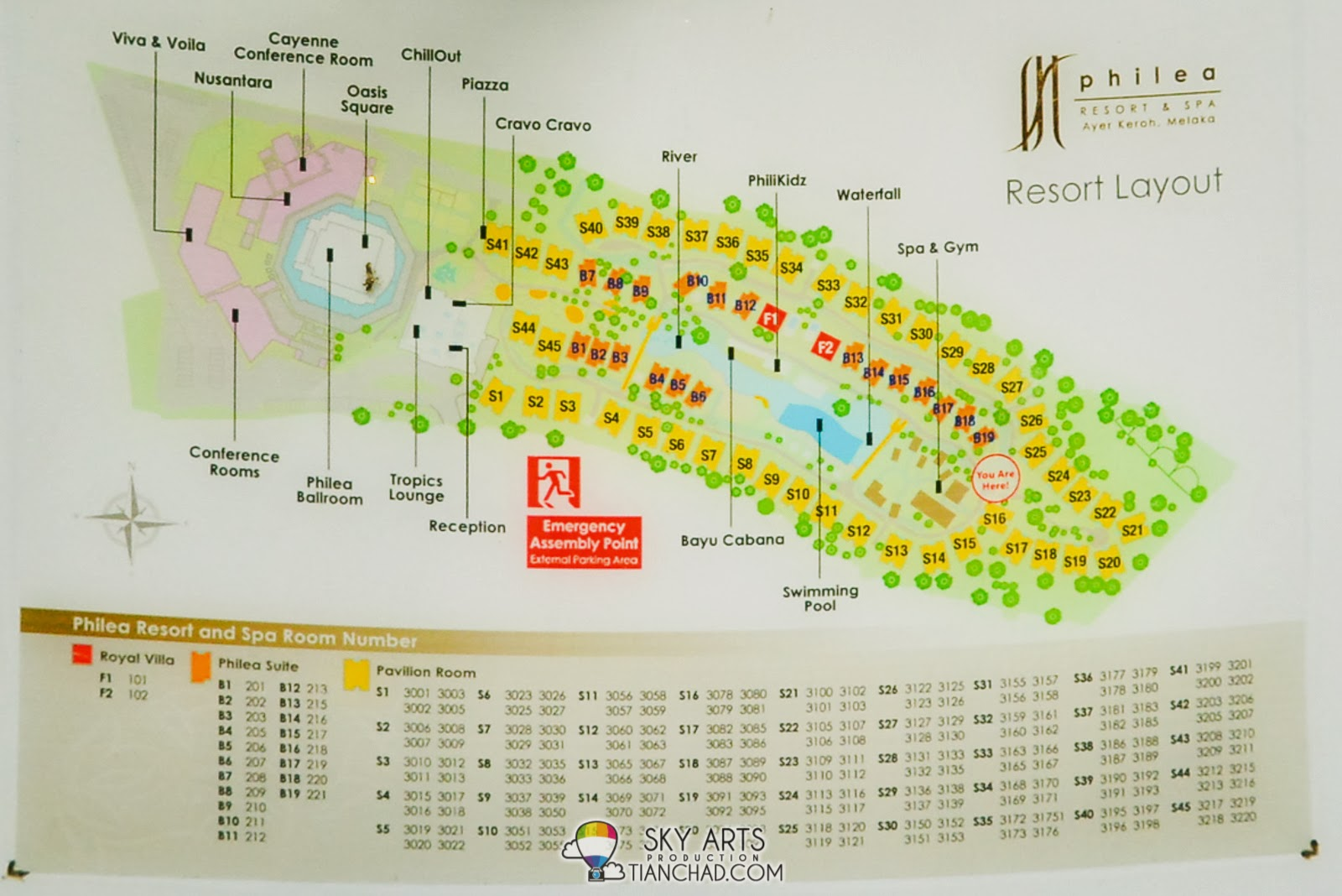 Philea Resort and Spa Layout Plan