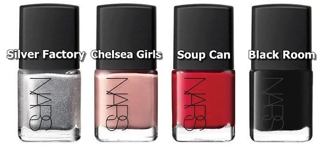 NARS Esmaltes Andy Warhol collection