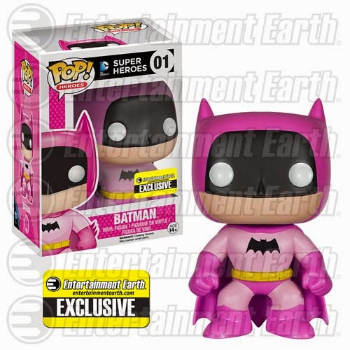 Entertainment Earth Exclusive The Rainbow Batman Pop! Series by Funko - Pink Batman