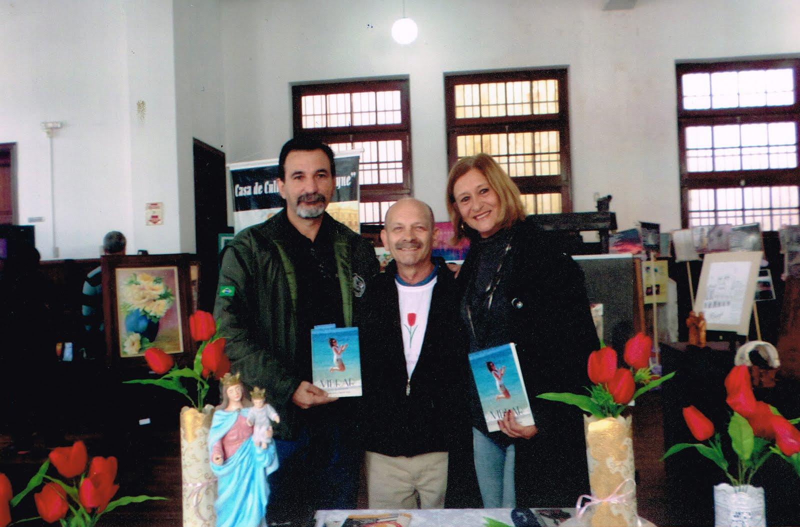 Manoel com Brandt e Elma Acosta