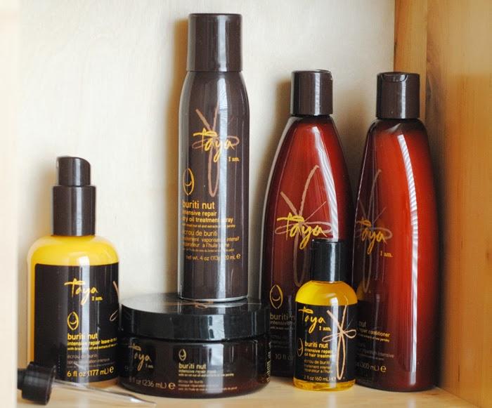Taya Beauty, Taya Buriti Nut Intensive Repair Collection Review, Natural sustainable hair products, hair products for damaged hair, hair products for color treated hair