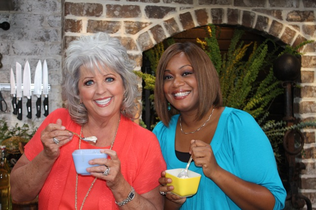 Sunny Anderson sunny anderson: catch me on paula's best dishes today!!