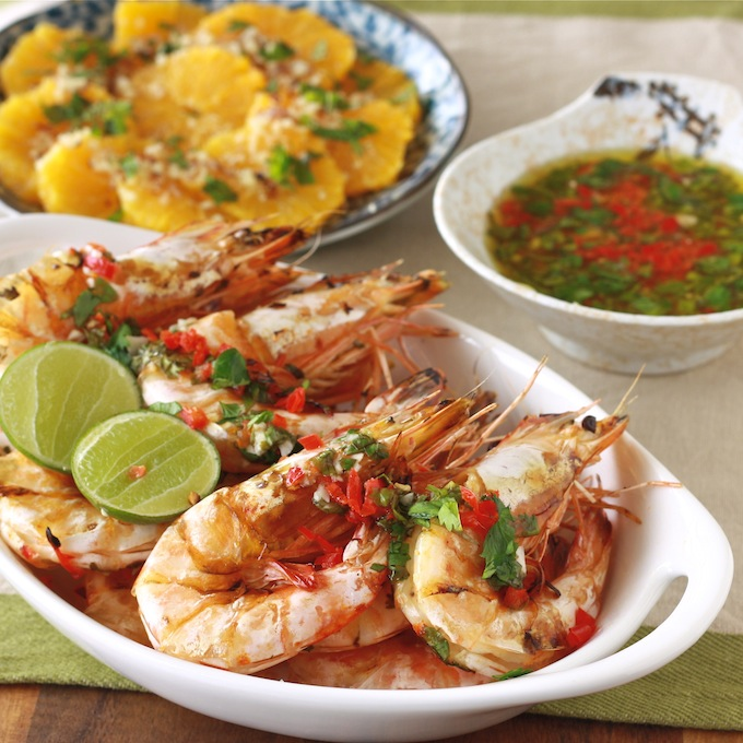 Shrimp with Chili Lime Dressing by Season with Spice