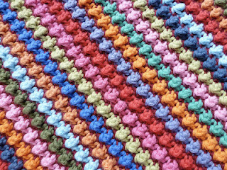 free crochet pattern alternating knot stitch