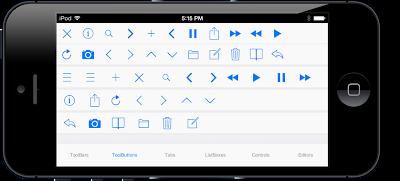 App construida con Delphi XE5 mostrando controles FM que soportan iOS7