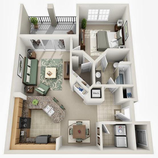 Baño En Dormitorio Pequeno:Amplia barra en la cocina, sala tiene acceso directo a la terraza, el