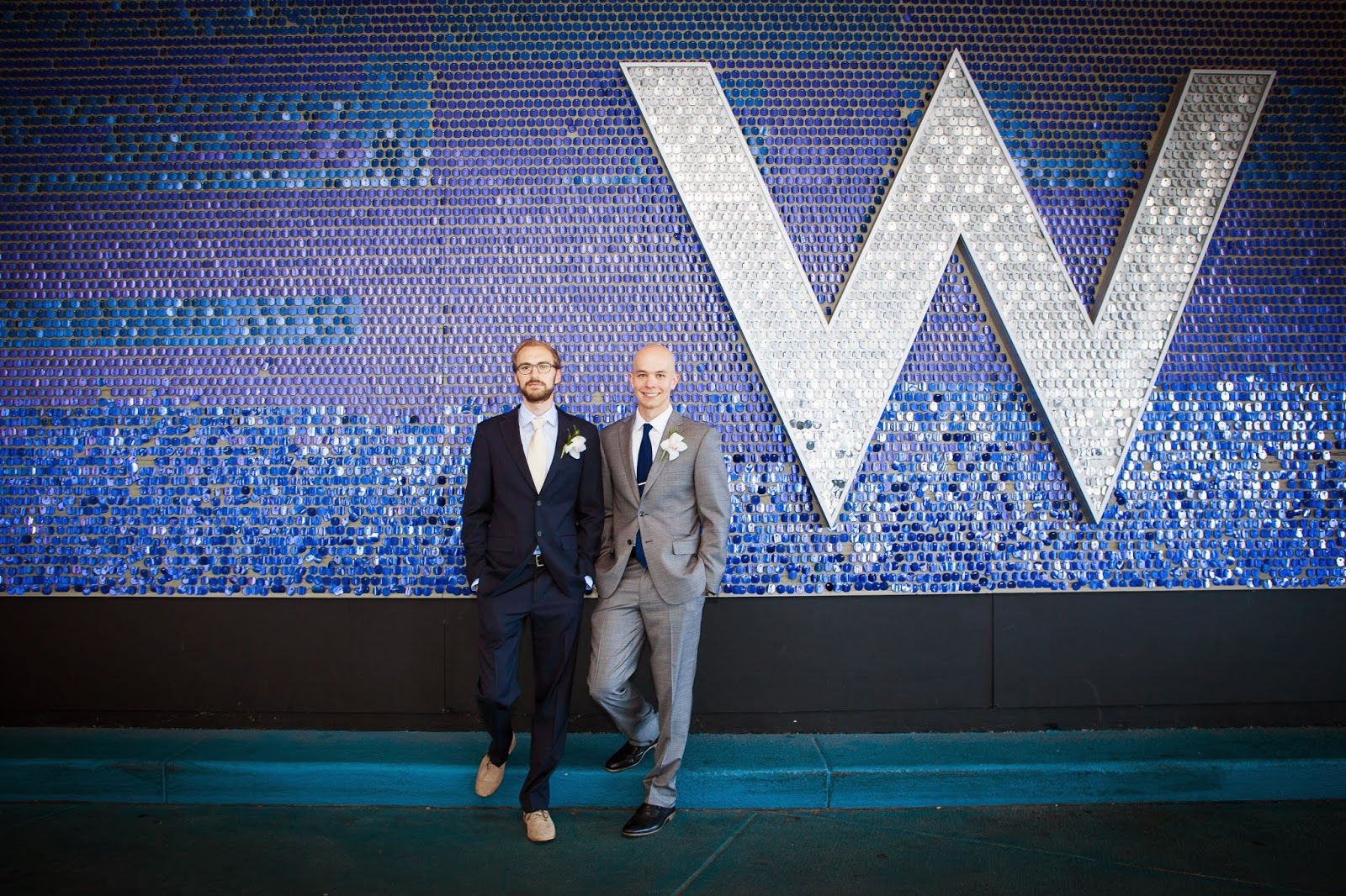 groom and groomsman at the W Chicago