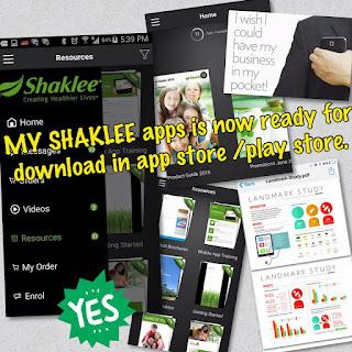 Apps terbaru dari shaklee