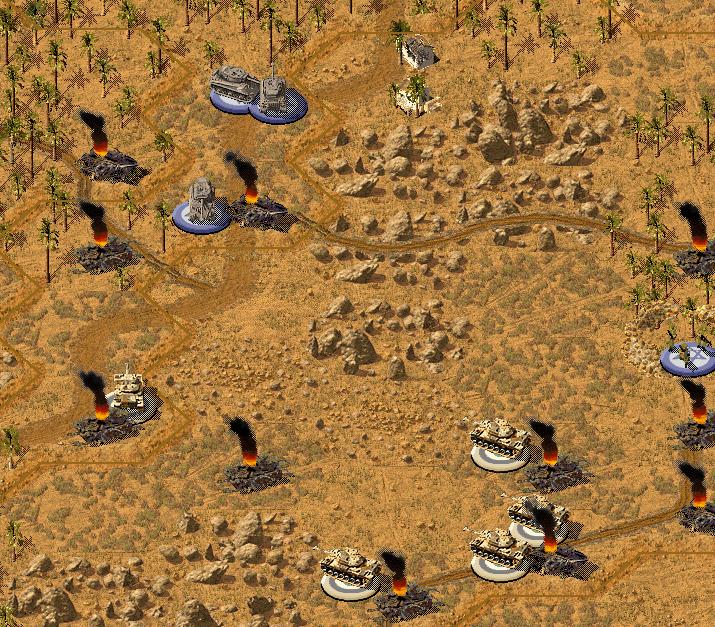 Танковый бой на западном фланге