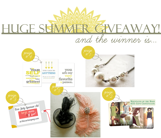 Summer Giveaway Winner