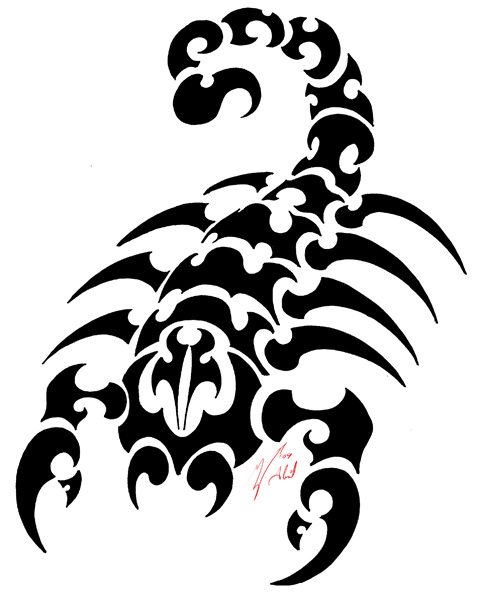 Scorpion Tribal Tattoos Design For Men