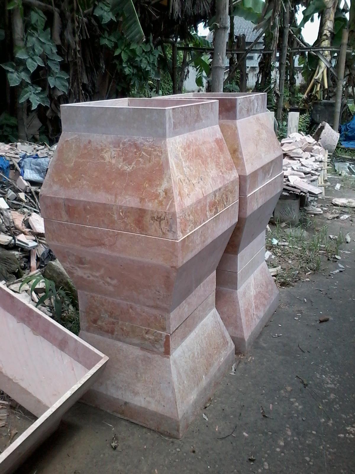 marmer granit batu alam kerajinan onix mozaik batu fosil pilar   pilar marmer untuk
