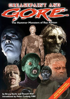 Book cover - Greasepaint and Gore: The Hammer Monsters of Roy Ashton
