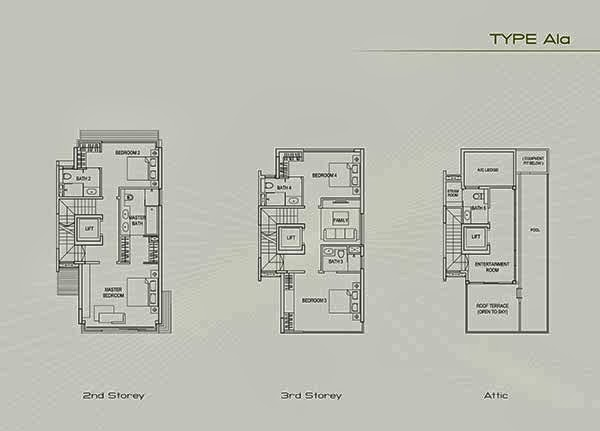 Type A1a second floor floor plans