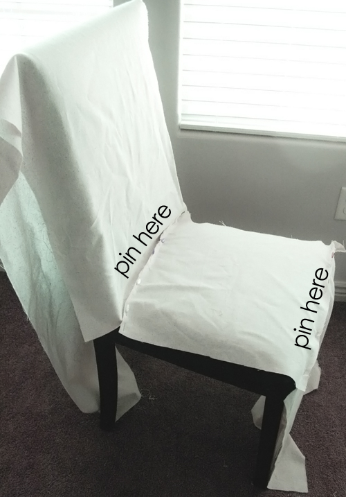 Ruthie be maude diy stenciled parson chair slipcovers - How to make easy slipcovers for dining room chairs ...