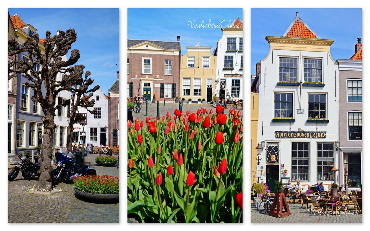 market square in Goedereede, Netherlands