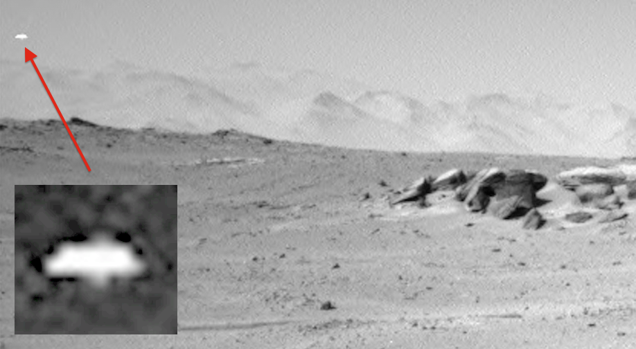 UFO Caught Observing Mars Rover 2015, UFO Sighting News