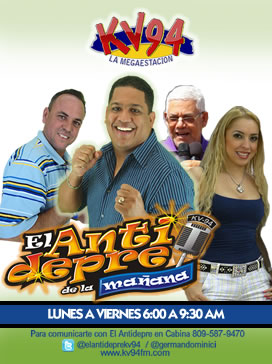 LUNES A VIERNES DE 6:00 A 9:30 AM - KV-94.7