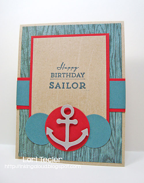 Happy Birthday Sailor card-designed by Lori Tecler/Inking Aloud-stamps from Waltzingmouse Stamps