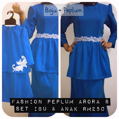 design fashion peplum arora 8 out of stock baju kurung moden lace