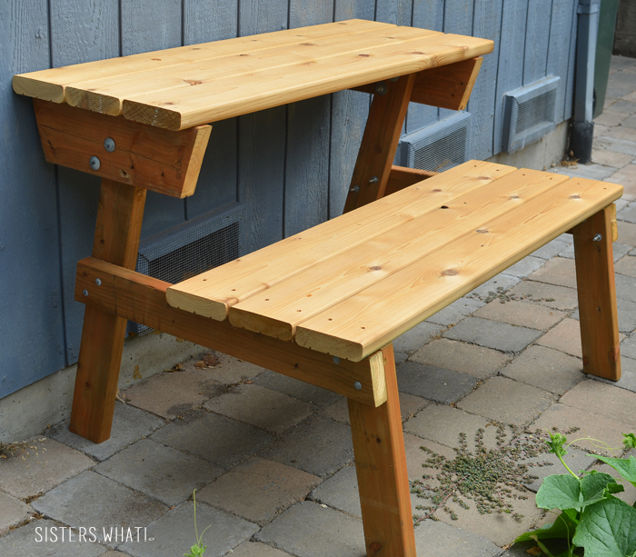 Picnic Table To Bench Sisters What