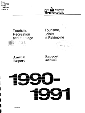 Tourism, Recreation and Heritage: Annual Report 1990-1991