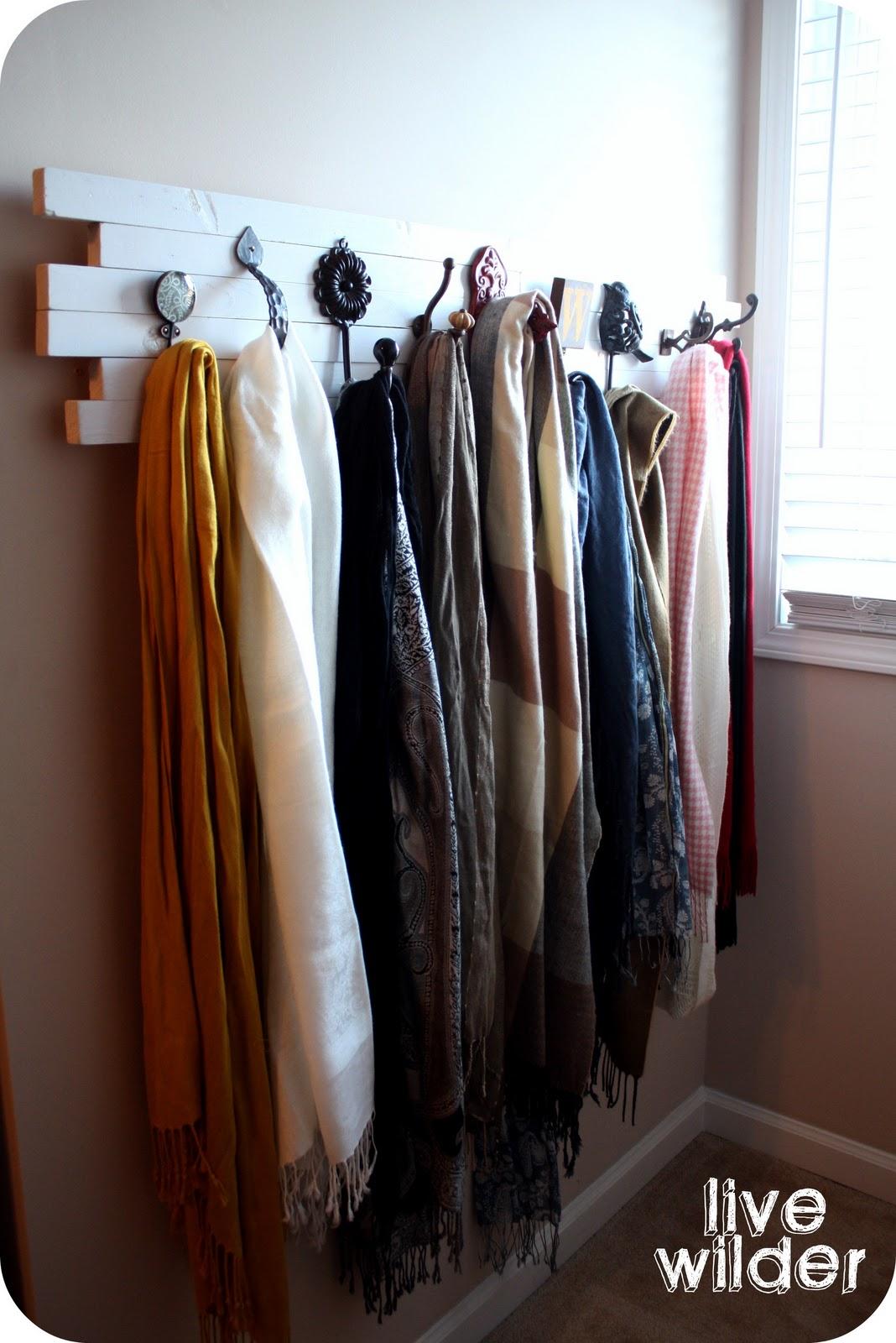 live a wilder the scarf hanger tutorial