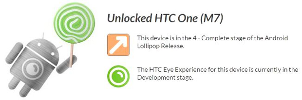 HTC One (M7) Unlocked dan Edisi Developer Mulai Terima Update Lollipop