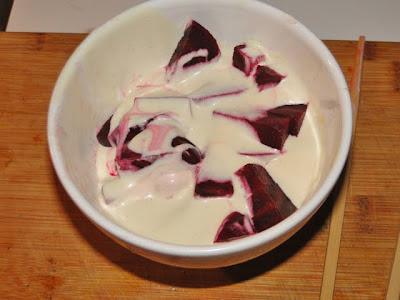 rode bietjes, dijonnaise, yoghurt