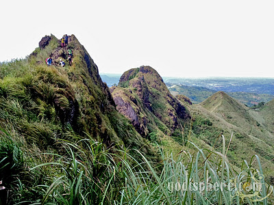 Steep peaks of Mt. Batulao