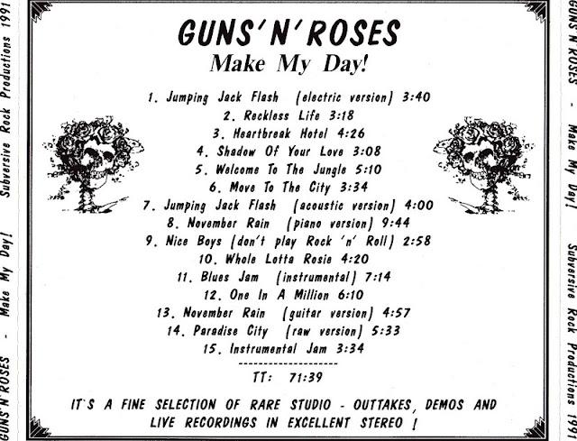 Guns N' Roses - Make My Day (Rare Tracks) 1991