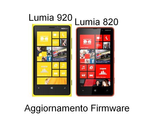 Nuovo firmware per i due smartphone Nokia Lumia 920 e 820 per miglioramenti generici
